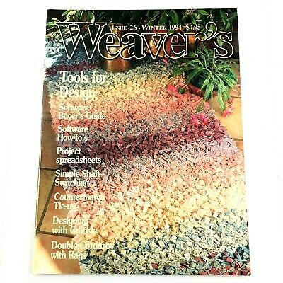 Weaver's Magazine Issue 26 1994: Corduroy with Rags,  Countermarch, Crackle