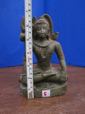 Antique Old Rare Hand Carved Stone Collectible Religious Hindu God Shiva Vintage