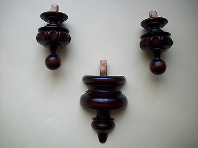 WOODEN FINIALS TO THE ANTIQUE CLOCK No.29