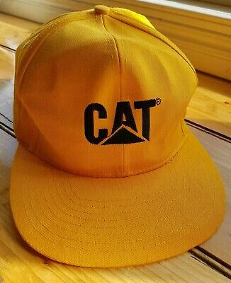 VINTAGE Caterpillar CAT Hat Cap Snapback ALL YELLOW  Australia  NEVER WORN