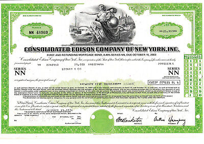 Consolidated Edison Company of New York bond 1976 USA United States of America