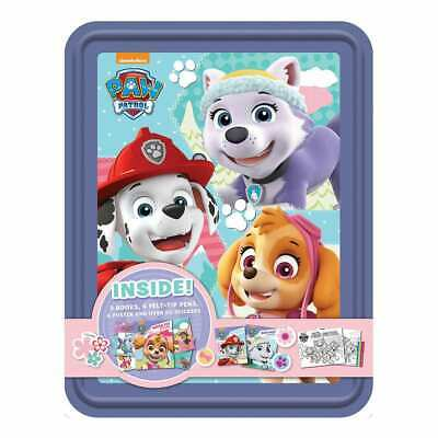 NEW Nickelodeon PAW Patrol Happy Tin Activity Stickers Set Kids Gift Colouring!