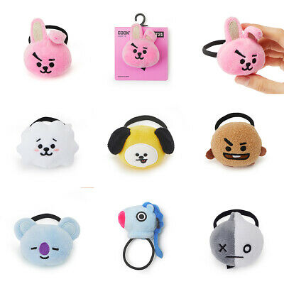 Official BT21 Character Face Doll Hair Tie Band Ring KPOP Bangtan Boys BTS Goods
