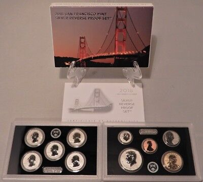 2018 San Francisco Mint Silver Reverse Proof Set 50th Year 10 Coins with COA