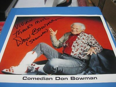 Don Bowman Autographed Photo, Country Music Star, Comedian