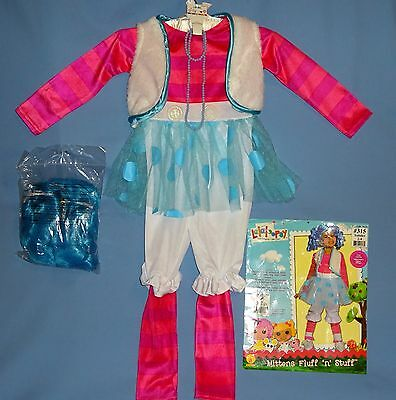 Morris Costumes Lalaloopsy Children Blue White Wig XS12387