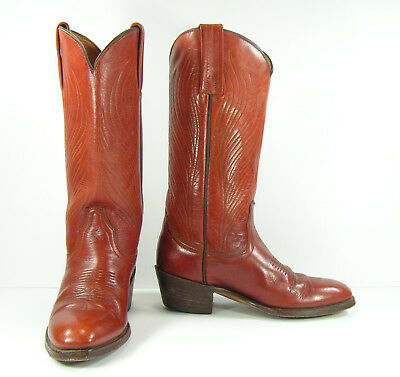 f247202441b36 VINTAGE FRYE COWBOY boots womens 8.5 M brown cowgirl leather western mens 7  D