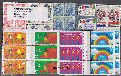 US Postage - Greeting stamps water-activated (25c+25c+5c) Below Face, Unused