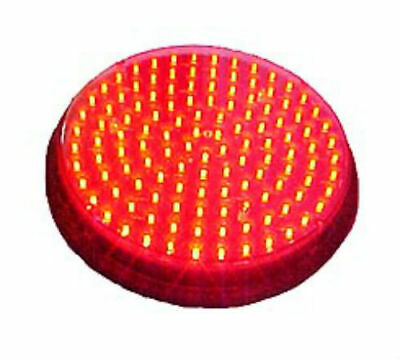 "300mm / 12"" Red 80-135V LED Traffic Light Stoplight For Man Cave  Over 100 LED's"