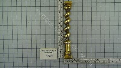 Antique 1 Day Zaandam Or Zaanse Clock Brass Front Half Pillar