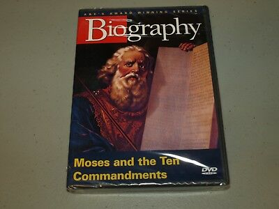 Biography - Moses and the Ten Commandments (DVD, 2005)  NEW