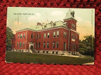 Early 1900'S. High School. North East, Pa.  Postcard L10