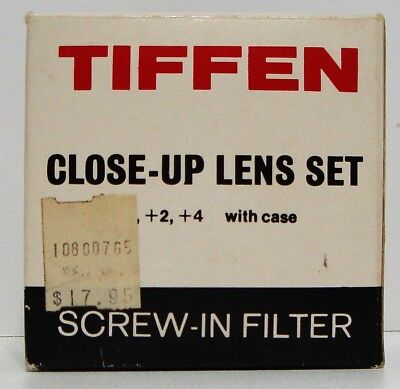 Tiffen Close Up Lens set +1 +2 +4 Screw in Filter Made in Japan 55M