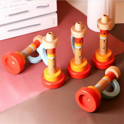 Wooden Funny Cute Trumpet Instruments Toddler Children Kids Educational Toy shan