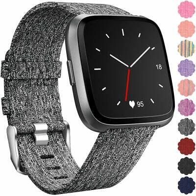 Maledan Replacement for Fitbit Versa Bands Women Men Large Small, Woven Fabri...