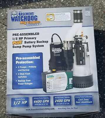 Basement Watchdog BW4000 1730 Gallons Per Hour Combination
