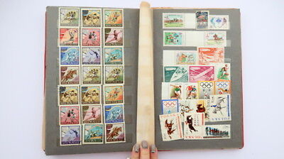 430+ Vintage Postage Stamp Album Book World Stamps Collection Sports Theme