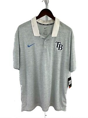 Nike BSBL Mens XXL 2XL Tampa Bay Rays Short Sleeve Polo Shirt F-98 **Read**