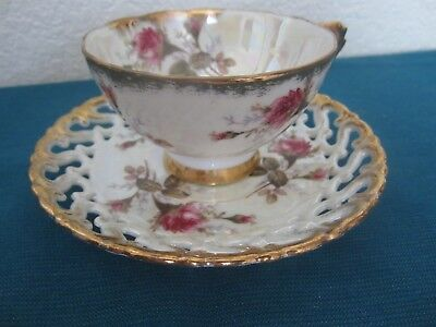 Royal Sealy China Japan Footed Teacup And Saucer