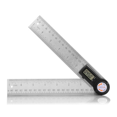 Digital Angle Finder Protractor 7 Inch Stainless Steel Ruler 200mm