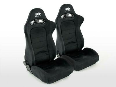 Pair Front Car Sports Seats Chicago black fabric VW Audi Seat Skoda