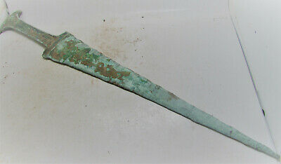 Rare Ancient Greek Bronze Throwing Spearhead Authentic Battle Object