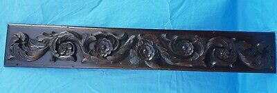 Antique French, Large Panel, Carved Wood, Renaissance, Solid Oak, 19th