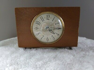 Vintage The Sessions Clock CO Wood Mantle Clock WORKS