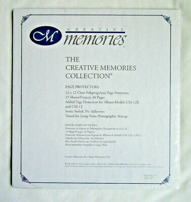 Creative Memories 12 x 12 Page Protectors 15 Sheets Protects 30 Pages