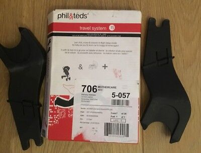 Phil & Teds Travel System 15 Maxi-cosi Cabrio Fix For The Smart System Brand New
