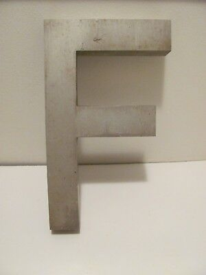"Vintage Cast Aluminum Letters ---10 In. Tall---Letter ""F"""