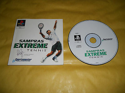 Ps1 Game-Sampras Extreme Tennis-Solo Cd + Manuale-Sony Playstation-Pal-Ps2-Ps3
