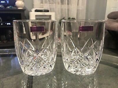 Waterford Marquis Brookside Double Old Fashioned Crystal Glasses: Set of 2