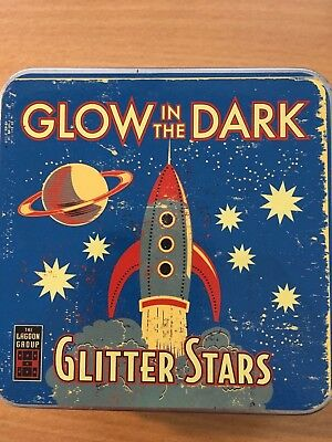 GLOW in the DARK GLITTER STARS -PLASTIC Stars (NEW) baby toys science / nature