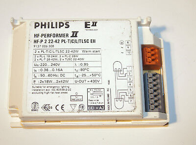 Philips Hf-Performer Hf-P 222-42 for PL-T / C L T5 Incl. Tax