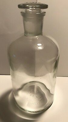 PYREX 1L apothecary glass bottle with #29 glass stopper