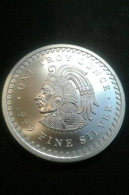 1 oz. Golden State Mint Silver Round Aztec Calendar .999 Fine.FREE SHIPPING.