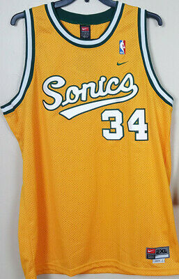 85162627dd3 Nike Ray Allen Seattle Supersonics Nba Jersey Gold Green Rare New (Size  2Xl+ 2)