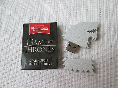 NEW HBO 4GB GAME OF THRONES Stark Sigil USB Flash Drive Collectible Lootcrate