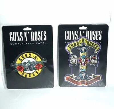 Set of 2 GUNS N' ROSES Circle Embroidered Patch Official Merchandise Genuine