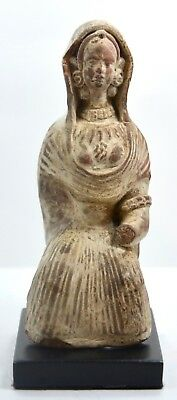 Exceptional Ancient and Rare Roman Terracotta Seated Female Figure
