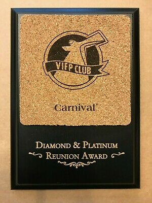 CARNIVAL CRUISE LINE VIFP Diamond Platinum Reunion Ship Award Prize Wood Plaque