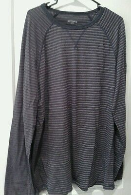 Merona size extra large charcoal grey and pink long sleeve lightweight top