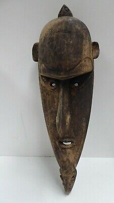 Early Tribal Carved Timber Spirit Mask  Animal Heads