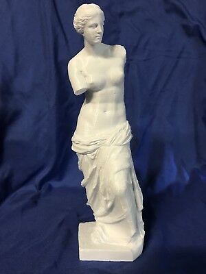Nude Woman Venus de Milo Female  Statue / White Professionally 3D Printed 9 1/8""