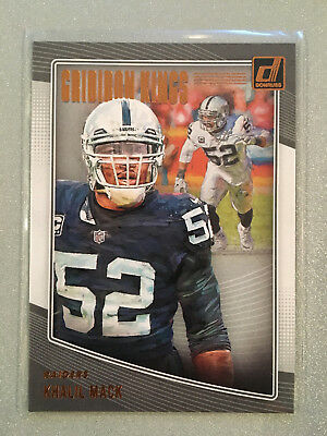 7caab25c198 2018 DONRUSS FOOTBALL Khalil Mack Gridiron Kings Insert  29 -  1.25 ...