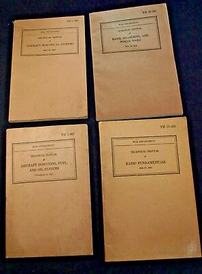 Lot of 4 WW 2 War Department Technical Manuals 1941-1943
