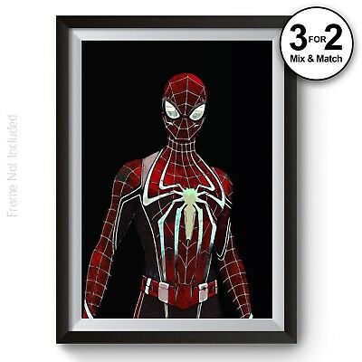Spider-man Comic Book Giclee Wall Art Print, Avengers Infinity Wars Movie poster