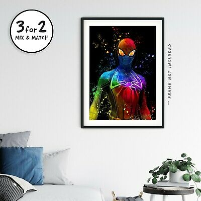 Spiderman Avengers 100% Cotton Movie Poster, Superhero Marvel Wall Art Print