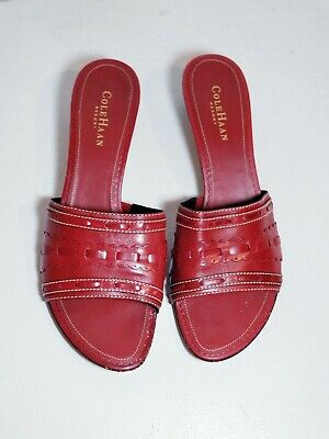 1398c5c9439 COLE HAAN WOMEN S Red Patent Leather Lace Up Moccasin Boat Shoe ...
